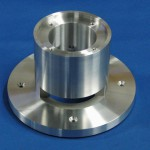材質:A2017,サイズ150φ×100L,旋盤,MC,ワイヤーカット,特殊溝