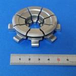 材質:SUS440C,サイズ:55φ×10L,旋盤,マシニング,ワイヤーカット,焼入れ,特殊小径溝