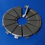 材質:ステン(SUS440C),サイズ:160mm×18L,旋盤,MC,ワイヤーカット,バレル研磨,端面溝,外径溝