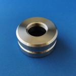 材質:ステンレス(SUS304),サイズ:60φ×30L,旋盤,内径インチねじ,外径R溝,