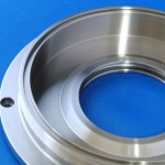 材質:ステンレス(SUS303),サイズ170φ×50L,旋盤,マシニング,内径溝,端面溝,