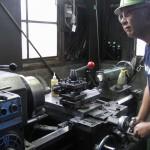 下町ボブスレー1号機部品製作の様子|旋盤|大野精機